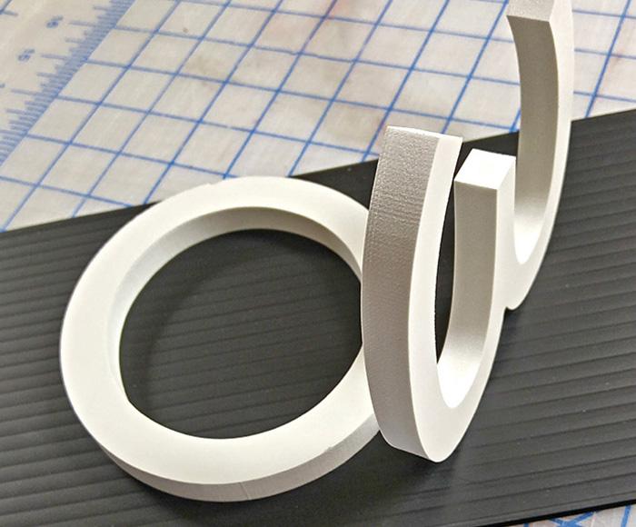 3D lettering non illuminated