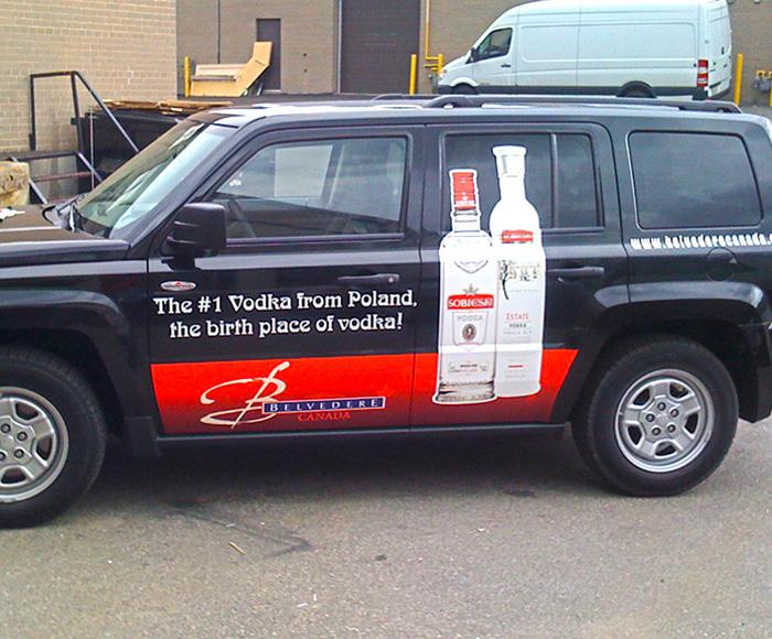 Vehicle graphics car vinyl wrap