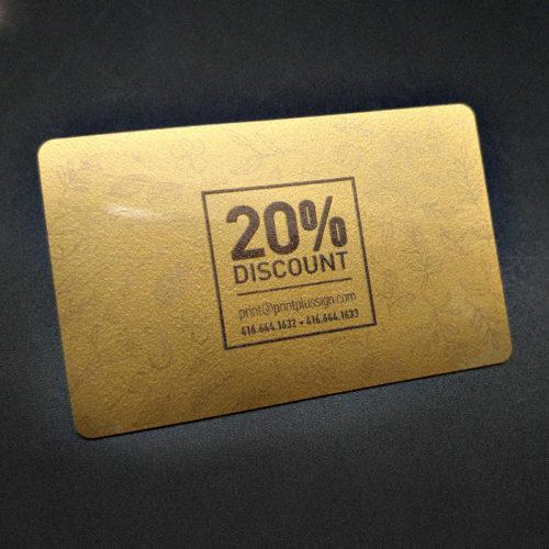 PVC custom printed loyalty card gold