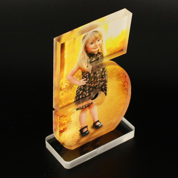 Acrylic Photo Block with custom print #5 top view