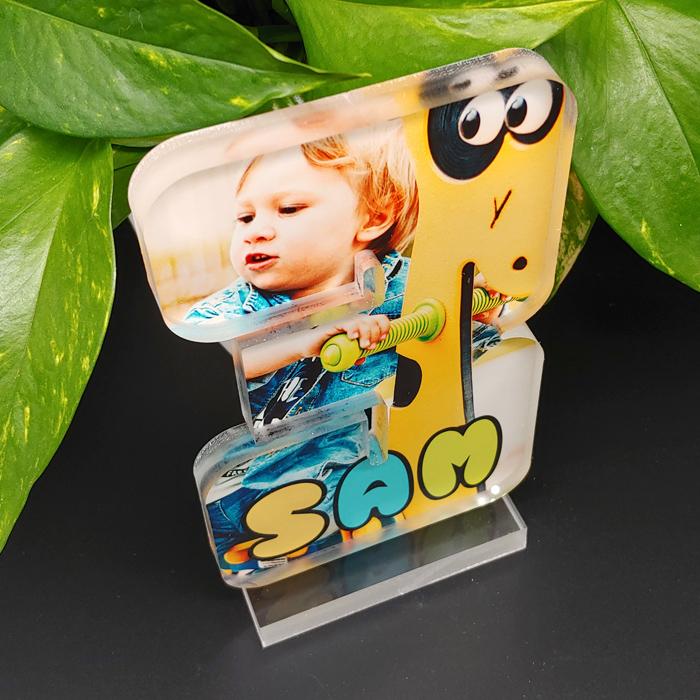 Acrylic Photo Block with custom print #3 sample Top view